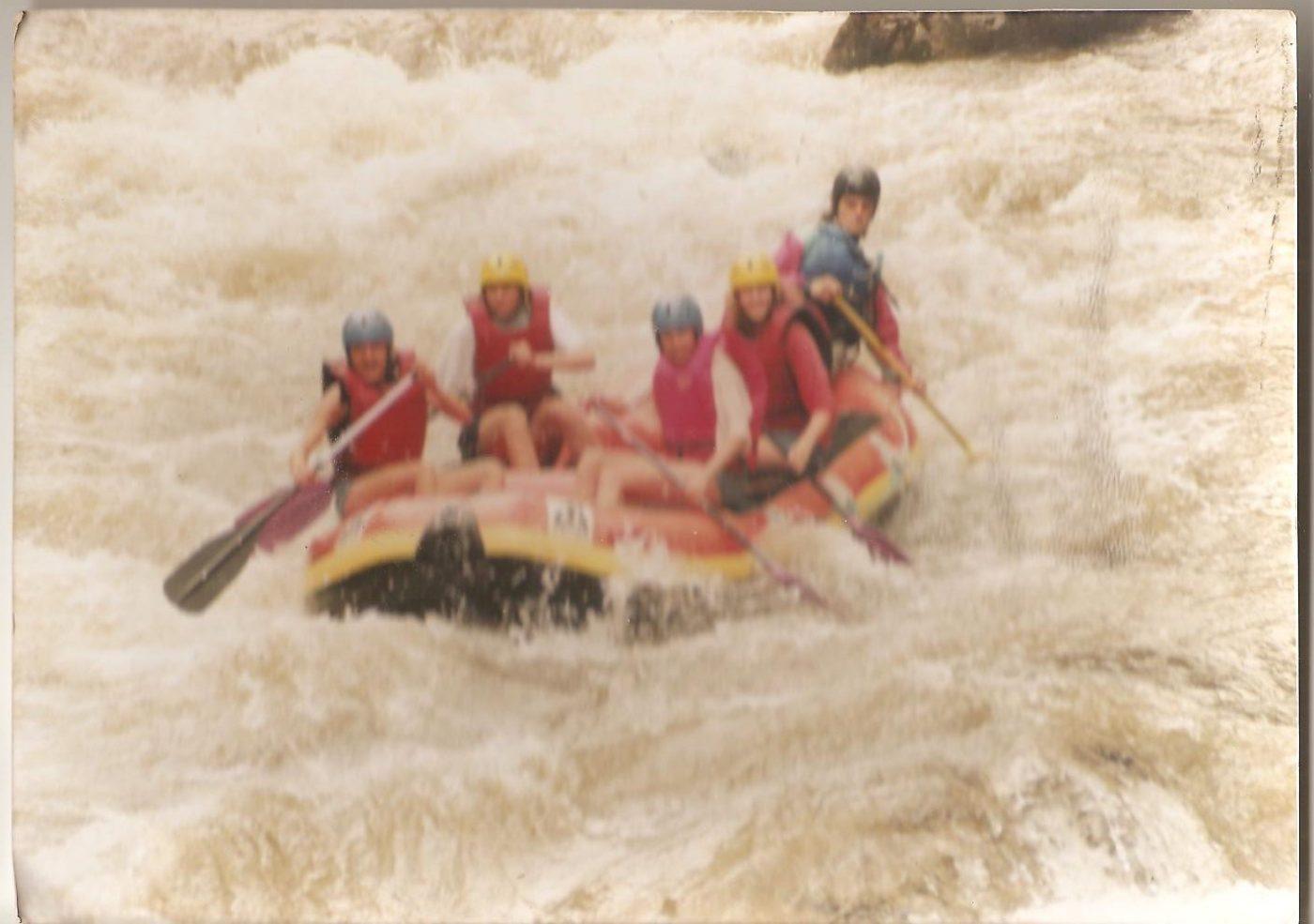 Rafting à l'ancienne
