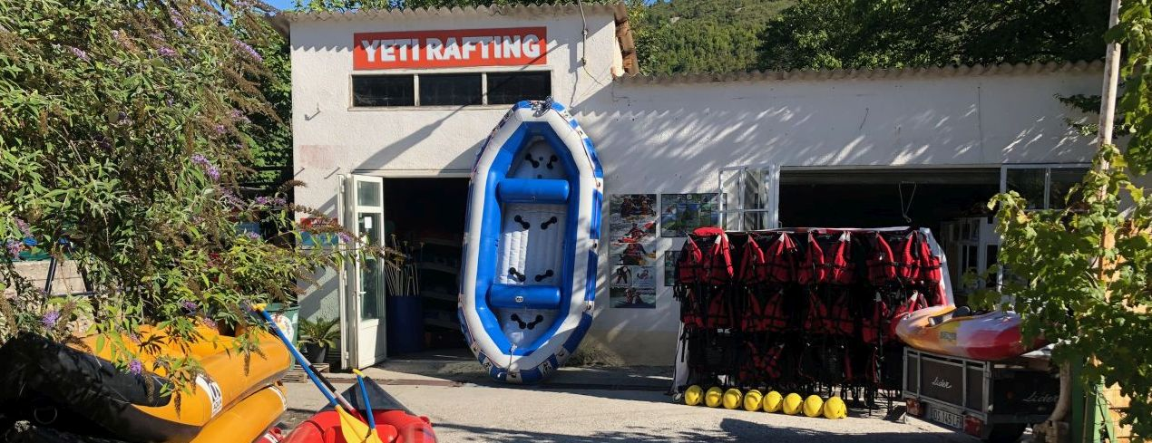 La base rafting de Castellane