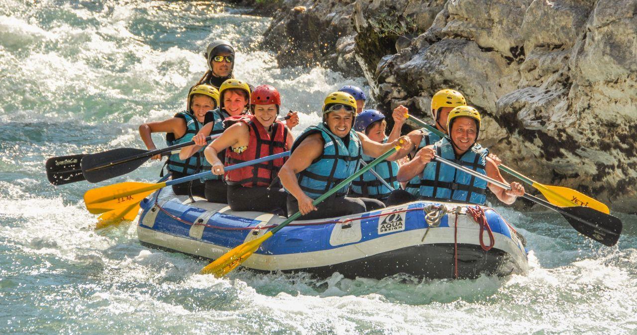 Rafting dans le Verdon, facile et accessible à toute la famille
